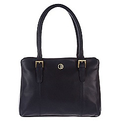 Pure Luxuries London - Navy 'Dalton' fine natural leather handbag