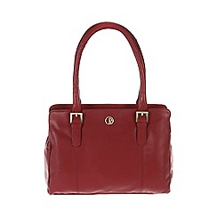 Pure Luxuries London - Red 'Dalton' fine natural leather handbag