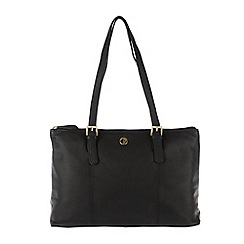 Pure Luxuries London - Black 'Oxford' soft natural leather handbag