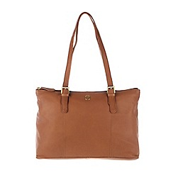 Pure Luxuries London - Dark tan 'Oxford' soft natural leather handbag