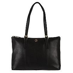 Pure Luxuries London - Black 'Oxford' fine natural leather handbag