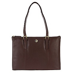 Pure Luxuries London - Burgundy 'Oxford' fine natural leather handbag