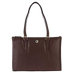 Pure Luxuries London - Burgundy 'Oxford' lightweight natural leather handbag