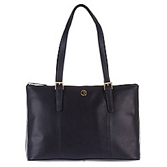Pure Luxuries London - Navy 'Oxford' fine natural leather handbag