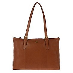 Pure Luxuries London - Nutmeg 'Oxford' fine leather bag