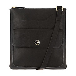 Pure Luxuries London - Black 'Weybridge' soft natural leather cross-body bag