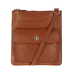 Pure Luxuries London - Nutmeg 'Weybridge' lightweight natural leather bag