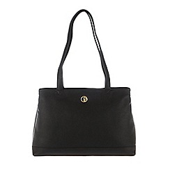 Pure Luxuries London - Black 'Cambridge' soft natural leather handbag