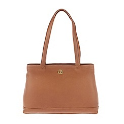 Pure Luxuries London - Dark tan 'Cambridge' soft natural leather handbag