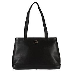 Pure Luxuries London - Black 'Cambridge' fine natural leather handbag