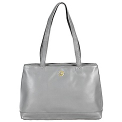 Pure Luxuries London - Grey 'Cambridge' fine leather handbag