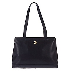 Pure Luxuries London - Navy 'Cambridge' fine natural leather handbag
