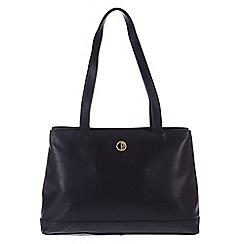 Pure Luxuries London - Navy 'Cambridge' lightweight natural leather handbag