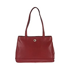Pure Luxuries London - Red 'Cambridge' fine natural leather handbag