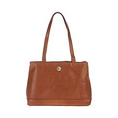 Pure Luxuries London - Nutmeg 'Cambridge' fine natural leather handbag