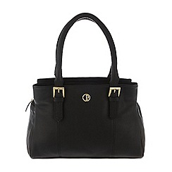 Pure Luxuries London - Black 'Ripley' soft natural leather handbag