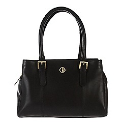 Pure Luxuries London - Black 'Ripley' fine natural leather handbag