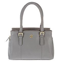 Pure Luxuries London - Grey 'Ripley' lightweight natural leather handbag