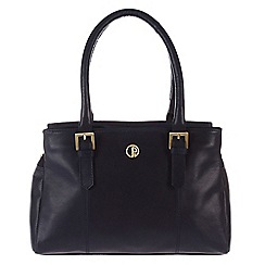 Pure Luxuries London - Navy 'Ripley' lightweight natural leather handbag