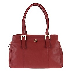 Pure Luxuries London - Red 'Ripley' fine natural leather handbag