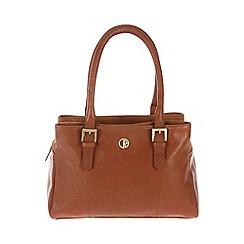 Pure Luxuries London - Nutmeg 'Ripley' fine natural leather handbag