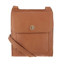 Pure Luxuries London - Dark tan 'Lancaster' soft natural leather cross-body bag
