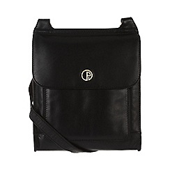 Pure Luxuries London - Black 'Lancaster' lightweight natural leather small bag