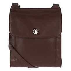 Pure Luxuries London - Burgundy 'Lancaster' fine natural leather small bag