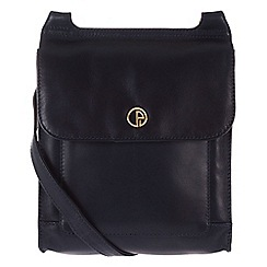 Pure Luxuries London - Navy 'Lancaster' fine natural leather small bag