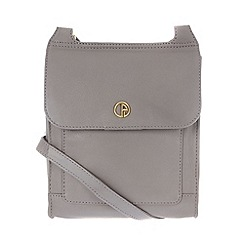 Pure Luxuries London - Grey 'Lancaster' natural leather small bag