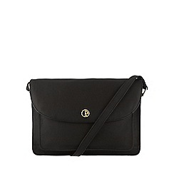 Pure Luxuries London - Black 'Carlisle' soft natural leather satchel bag