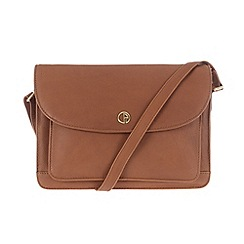 Pure Luxuries London - Dark tan 'Carlisle' natural leather bag