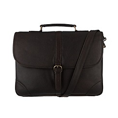 Pure Luxuries London - Brown 'Boris' natural leather briefcase