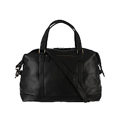 Pure Luxuries London - Black 'Cabin' natural leather holdall