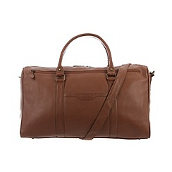 Pure Luxuries London - Chestnut 'Global' natural leather holdall