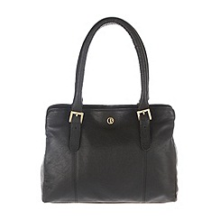 Pure Luxuries London - Black 'Dalton' finest natural leather handbag