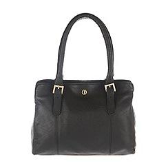 Pure Luxuries London - Black 'Dalton' finest natural leather handbag