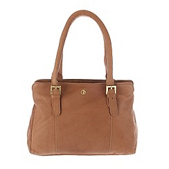 Pure Luxuries London - Dark tan 'Dalton' finest natural leather handbag