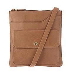 Pure Luxuries London - Dark tan 'Weybridge' finest natural leather bag