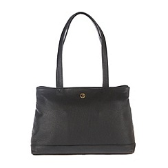 Pure Luxuries London - Black 'Cambridge' finest natural leather handbag
