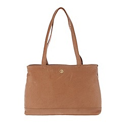 Pure Luxuries London - Dark tan 'Cambridge' finest natural leather handbag