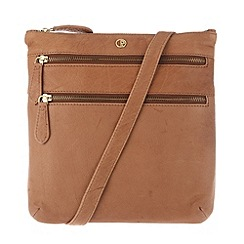 Pure Luxuries London - Dark tan 'Canterbury' finest natural leather bag