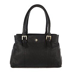 Pure Luxuries London - Black 'Ripley' finest natural leather hand bag