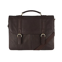 Pure Luxuries London - Brown 'Terence' finest natural leather briefcase