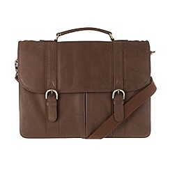 Pure Luxuries London - Chestnut 'Terence' finest natural leather briefcase