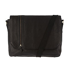Pure Luxuries London - Black 'Ben' leather messenger bag