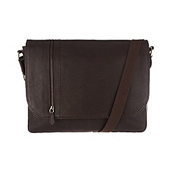 Pure Luxuries London - Brown 'Ben' leather messenger bag