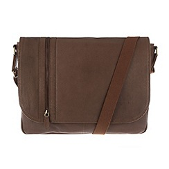 Pure Luxuries London - Chestnut 'Ben' finest leather messenger bag