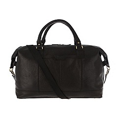 Pure Luxuries London - Black 'Cabin' finest natural leather holdall