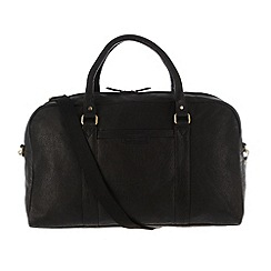 Pure Luxuries London - Black 'Cargo' finest natural leather holdall